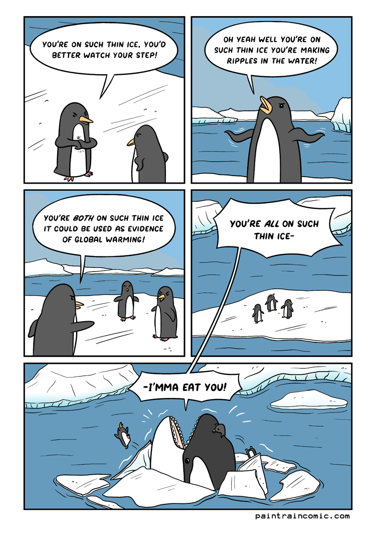 This comic was fun to draw because it doesn't matter which penguin is which ;)