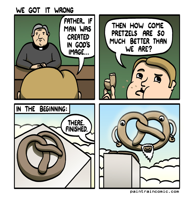 Christianity and Islam started out with only one difference: what to put on the pretzel